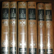 Libros de segunda mano: LA BIBLIA (6 VOLÚMENES) BAC MIÑÓN (1971). Lote 26948382