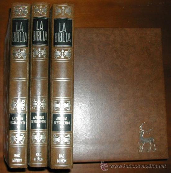 Libros de segunda mano: LA BIBLIA (6 VOLÚMENES) BAC MIÑÓN (1971) - Foto 2 - 26948382