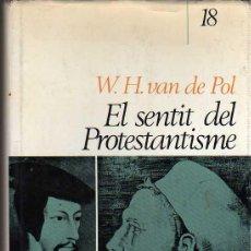 Libros de segunda mano: LIBRO DE W.H. VAN DE POL - EL SENTIT DEL PROTESTANTISME 1968 - ESCRITA EN CATALAN. Lote 22760899