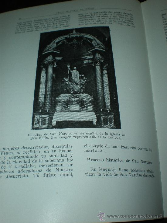 Libros de segunda mano: joaquin pla cargol santos martires de gerona (san felix san narciso y otros santos) gerona 1962 - Foto 2 - 26663386