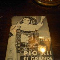 Libros de segunda mano: MANUEL ALCOVER VALLE,PIO XII, EDICIONES PAULINAS, 1959. Lote 27345428
