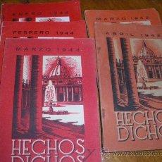 Libros de segunda mano: HECHOS Y DICHOS. 1942 Y 1944.. Lote 28118031