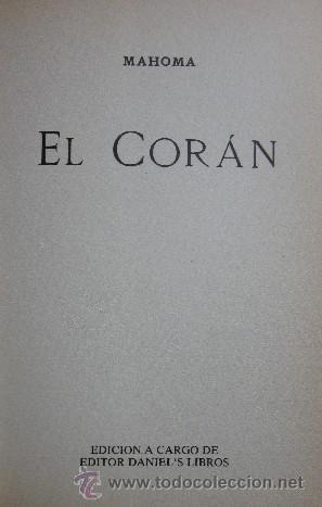 Libros de segunda mano: EL CORAN - EL LIBRO SAGRADO DEL ISLAM - Foto 3 - 28302816