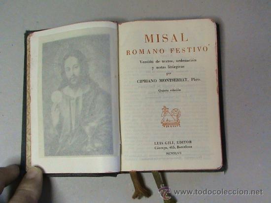 MISAL ROMANO FESTIVO (Libros de Segunda Mano - Religión)