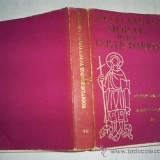 Libros de segunda mano: MORAL PARA UNIVERSITARIOS MIGUEL BENZO EDICIONES CRISTIANDAD 1967 RM53599. Lote 28974178