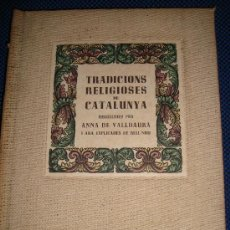 Libros de segunda mano: (128) TRADICIONS RELIGIOSES DE CATALUNYA. Lote 29410035