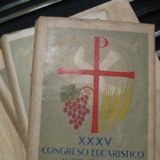 Libros de segunda mano: ACTAS Y FOTOS DEL CONGRESO EUCARISTICO DE BARCELONA 1952 TRES 3 TOMOS COMPLETO. Lote 29936960
