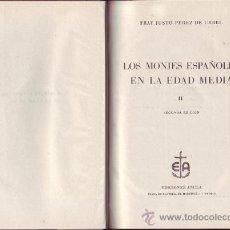 Libros de segunda mano: LOS MONJES ESPAÑOLES EN LA EDAD MEDIA, FRAY JUSTO PEREZ DE URBEL,. Lote 30535248