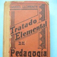 Libros de segunda mano: TRATADO ELEMENTAL DE PEDAGOGÍA CATEQUÍSTICA. DANIEL LLORENTE. Lote 31816978