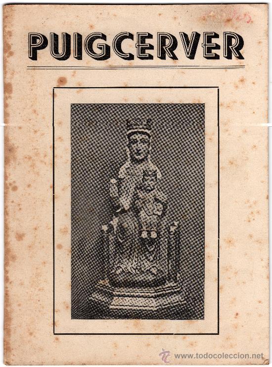 PUIGCERVER, ALFORJA, TARRAGONA, ENERO DE 1953 (Libros de Segunda Mano - Religión)