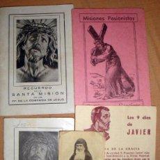 Libros de segunda mano: MISIONES PASIONISTAS 1952, HORA SANTA A JESÚS CRUCIFICADO 1944, LOTE. Lote 32376304