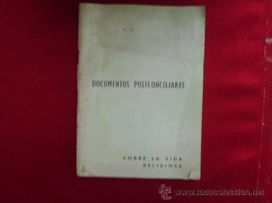LIBRO DOCUMENTOS POSTCONCILIARES SOBRE LA VIDA RELIGIOSA L-1345 (Libros de Segunda Mano - Religión)