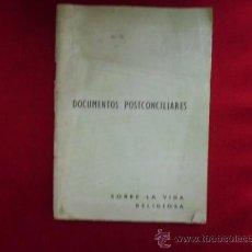 Libros de segunda mano: LIBRO DOCUMENTOS POSTCONCILIARES SOBRE LA VIDA RELIGIOSA L-1345 . Lote 32661719