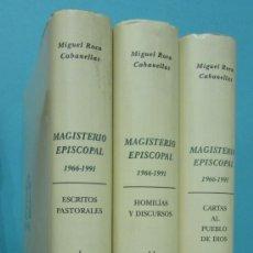 Libros de segunda mano: MAGISTERIO EPISCOPAL 1966 - 1991 (3 VOL.). MONSEÑOR MIGUEL ROCA CABANELLAS. Lote 58605837