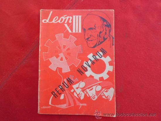 LIBRO RERUM NOVARUM LEON XII 1971 ED. APOSTOLADO DE LA PRENSA L-2224 (Libros de Segunda Mano - Religión)