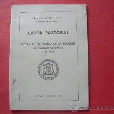 Libros de segunda mano: DEMETRIO MANSILLA REOYO.-CARTA PASTORAL.-OCTAVO CENTENARIO DE LA DIOCESIS DE CIUDAD RODRIGO.AÑO 1968. Lote 34359076
