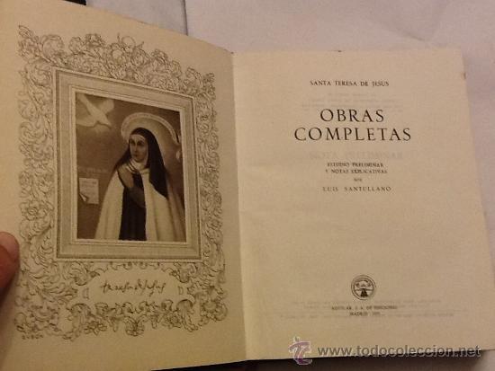 Libros de segunda mano: SANTA TERESA DE JESÚS. OBRAS COMPLETAS. AGUILAR. PIEL. 1951 - Foto 3 - 34618219