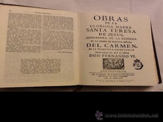 Libros de segunda mano: SANTA TERESA DE JESÚS. OBRAS COMPLETAS. AGUILAR. PIEL. 1951 - Foto 5 - 34618219