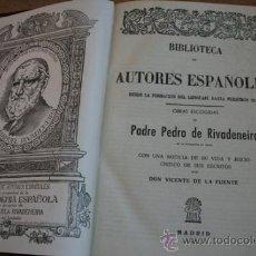 Libros de segunda mano: OBRAS ESCOGIDAS. RIVADENEIRA (PADRE PEDRO DE). Lote 34631259