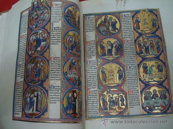 Libros de segunda mano: Biblia de San Luis, siglo XIII, la Biblia de Reyes a su alcance. Facsímil. Moleiro - Foto 7 - 34661514