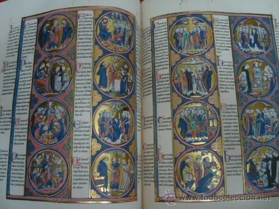 Libros de segunda mano: Biblia de San Luis, siglo XIII, la Biblia de Reyes a su alcance. Facsímil. Moleiro - Foto 8 - 34661514
