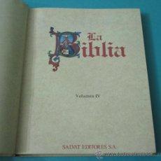 Libros de segunda mano: LA BIBLIA. VOLUMEN IV.ESCRITOS I: SALMOS. JOB. PROVERBIOS. Lote 35402231
