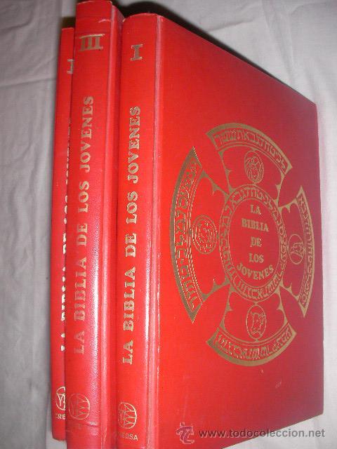 LA BIBLIA DE LOS JOVENES (TRES VOLUMENES) (Libros de Segunda Mano - Religión)