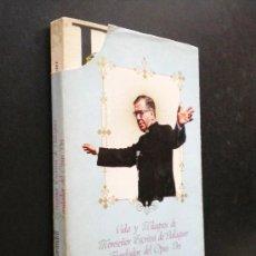 Libros de segunda mano: VIDA Y MILAGROS DE MONSEÑOR ESCRIVÁ DE BALAGUER, FUNDADOR DEL OPUS DEI / CARANDELL, LUIS. Lote 35771995