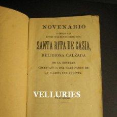Libros de segunda mano: DEVOCIONARIO SANTA RITA DE CASIA. BARCELONA 1893. 14 X 7,5 CM. Lote 35877538