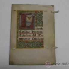 Libros de segunda mano: LIBRO EN PERGAMINO RECUERDO ENLACE MATRIMONIAL JOAQUIN BAU, CONDE DE BAU, TORTOSA 1946. Lote 36083523