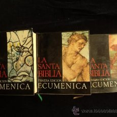 Libros de segunda mano: LA SANTA BIBLIA. TRES VOLUMENES ED. PLAZA Y JANES. 1969 600 PAG TOMO.. Lote 36260653