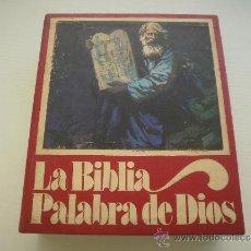 Libros de segunda mano: LA BIBLIA - PALABRA DE DIOS - CAJA CON TRES VOLUMENES. Lote 36592320
