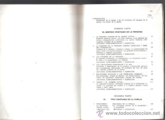 Libros de segunda mano: Sentido Cristiano de la persona,la familia y la sociedad.Equipoa de PPC.1972.330 páginas.Anotaciones - Foto 3 - 37814178