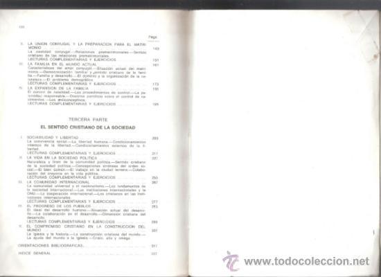 Libros de segunda mano: Sentido Cristiano de la persona,la familia y la sociedad.Equipoa de PPC.1972.330 páginas.Anotaciones - Foto 4 - 37814178