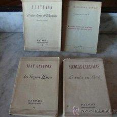 Libros de segunda mano: LOTE DE 3 LIBROS Y FOLLETO RELIGIOSOS AÑOS 40-50 S. XX. Lote 37525442