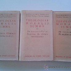 Libros de segunda mano: THEOLOGIAE MORALIS SUMMA. Lote 37649473