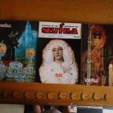 Libros de segunda mano: 3 UNIDADES BOLETIN DE LA COFRADIAS DE SEVILLA N 342 - 414 Y 401 SEMANA SANTA 1993 1994 Y 1988 VIRGEN. Lote 38496855