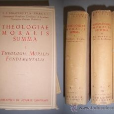 Libros de segunda mano: REGATILLO, E.F. THEOLOGIAE MORALIS SUMMA. Lote 38509733