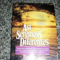 Libros de segunda mano: ASI SEREMOS DIFERENTES, POR BASILEA SCHLINK - EDIT. BETANIA - USA - 1971. Lote 38744700