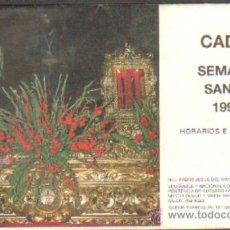 Libros de segunda mano: ITINERARIO SEMANA SANTA. CADIZ, 1990. A-SESANTA-707. Lote 38889550