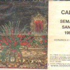 Libros de segunda mano: ITINERARIO SEMANA SANTA. CADIZ, 1990. A-SESANTA-708. Lote 38889956