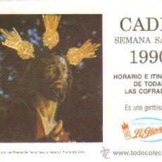 Libros de segunda mano: ITINERARIO SEMANA SANTA. CADIZ, 1990. A-SESANTA-709,3. Lote 38890186