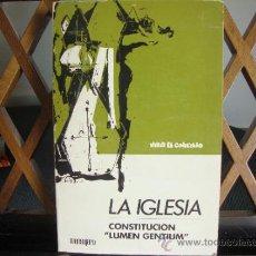 Libros de segunda mano: LA IGLESIA. CONSTITUCIÓN