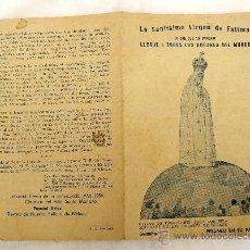 Libros de segunda mano: MENSAJE A FATIMA - 1954. Lote 39091251