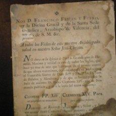Libros de segunda mano: BULA DE CLEMENTE XIV QUE SUPRIME LA COMPAÑÍA DE JESÚS PUBLICADA POR F. FABIAN Y FUERO, ARZOBISPO DE . Lote 39447857
