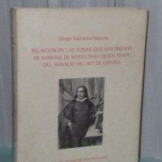 Libros de segunda mano: RELACIÓN DE LAS COSAS DIGNAS DE SABERSE DE ROMA PARA QUIEN TRATA DEL SERVICIO DE REY DE ESPAÑA. Lote 39943205