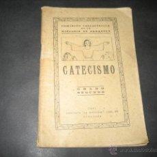 Libros de segunda mano: CATECISMO 2º GRADO DOCTRINA CRISTIANA 1941. . Lote 40422431