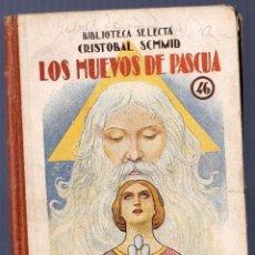 Libros de segunda mano: LOS HUEVOS DE PASCUA. CRISTOBAL SCHMID. EDITORIAL RAMON SOPENA, S.A. BARCELONA. 1942. 78 PÁGS.. Lote 40474715