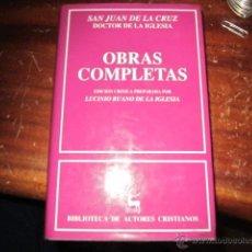 Libros de segunda mano: SAN JUAN DE LA CRUZ DOCTOR DE LA IGLESIA: OBRAS COMPLETAS- LUCIANO RUANO DE LA IGLESIA. Lote 41249264