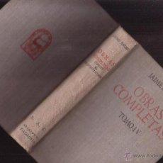 Livros em segunda mão: OBRAS COMPLETAS, TOMO IV / . JAIME BALMÉS - EDITA : B.A.C. 1949. Lote 41583037